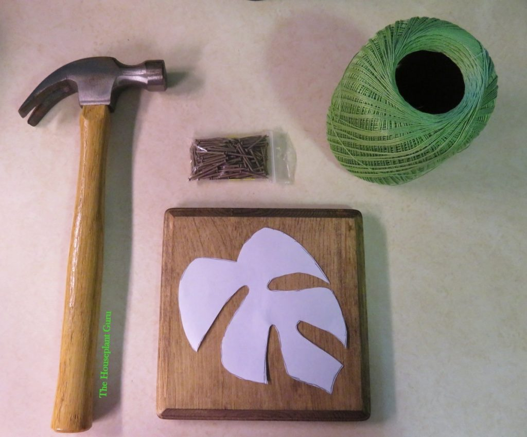 All the supplies I need to make my string art